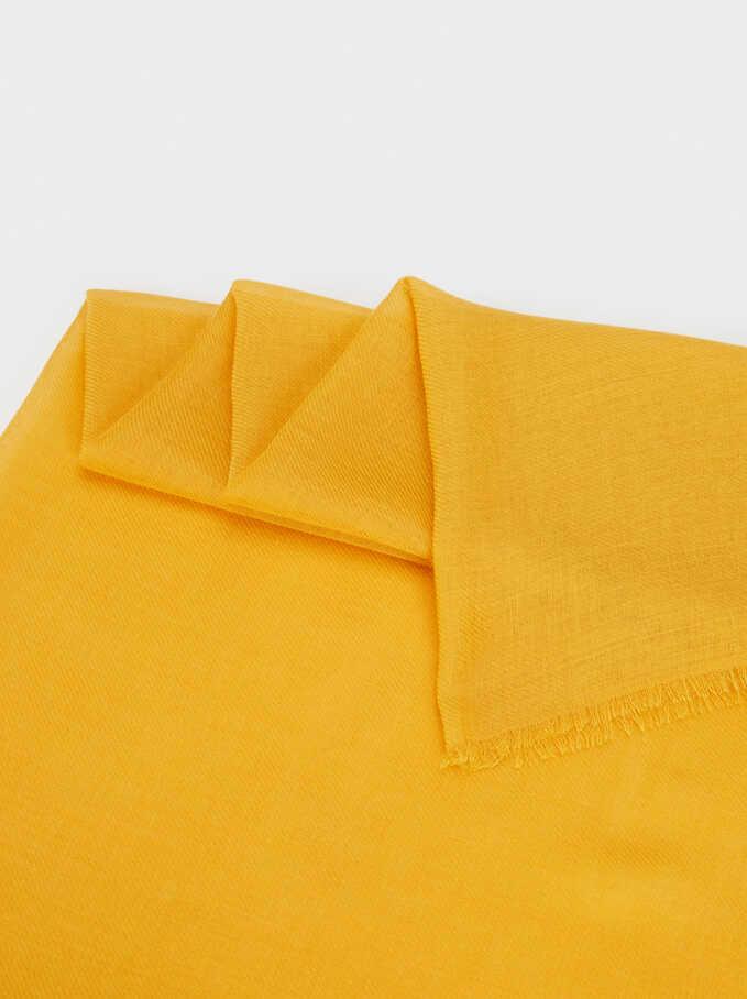 Plain Pashmina, Yellow, hi-res