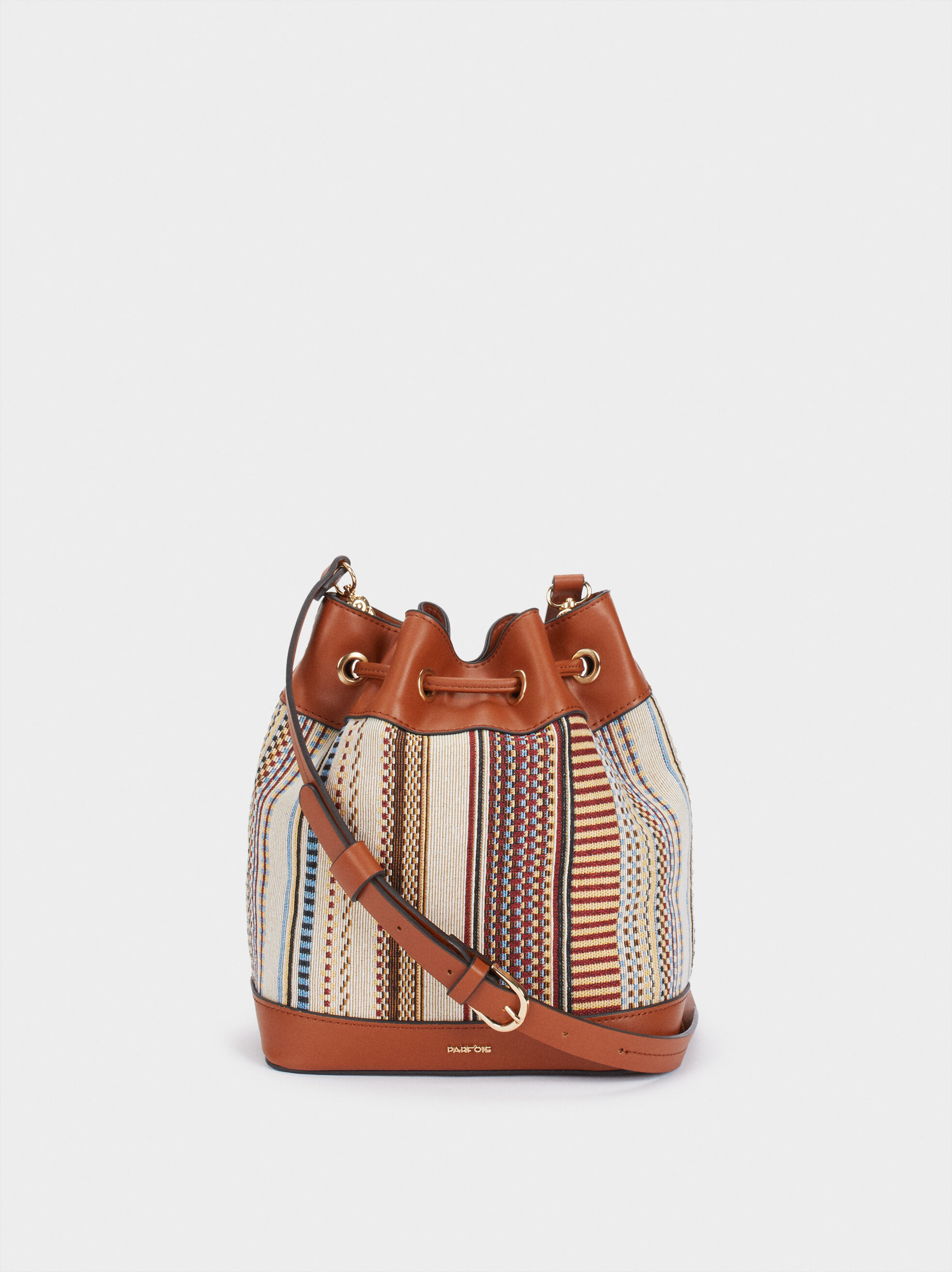 Lotus Bucket Handbag, Camel, hi-res