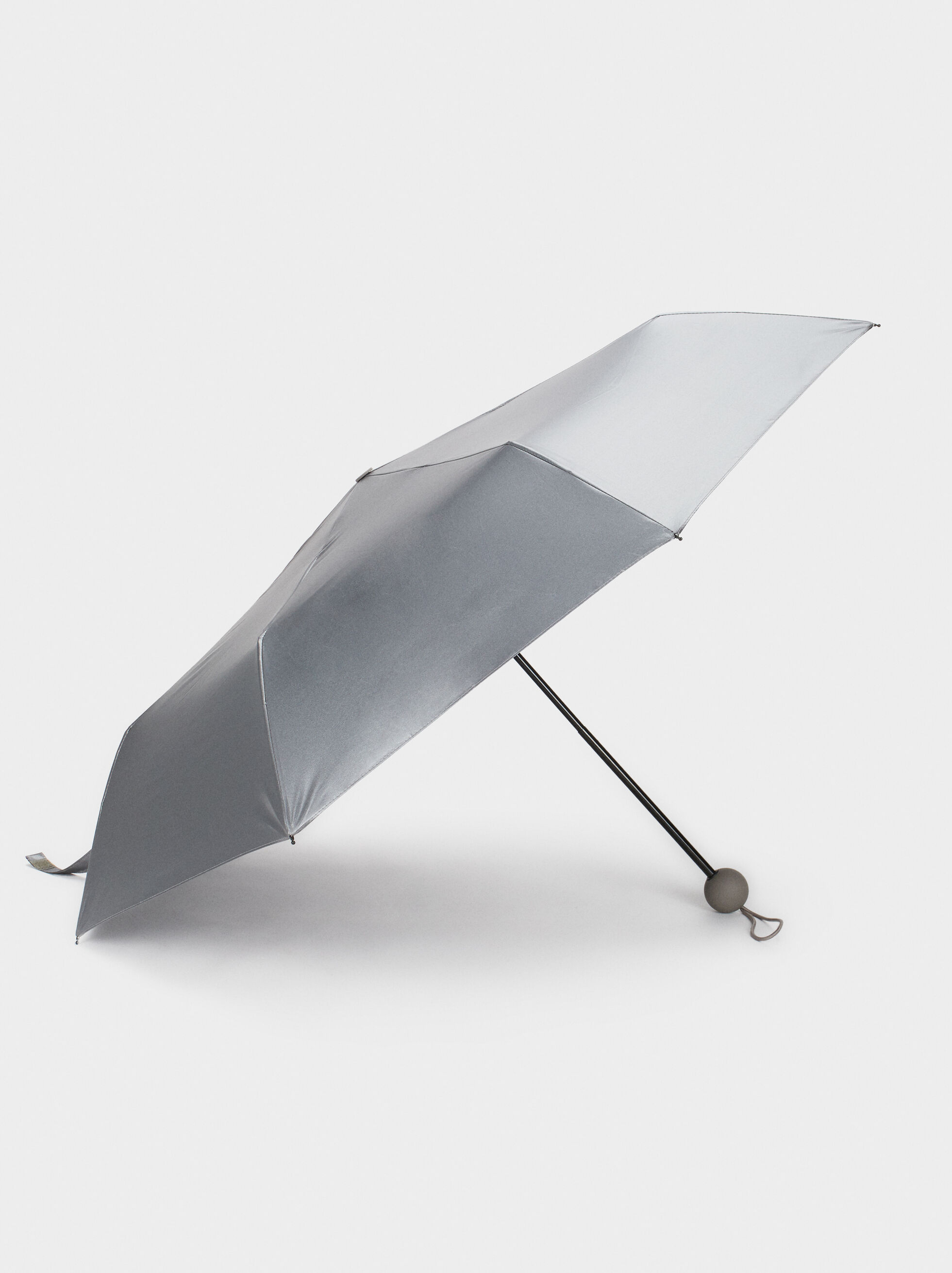 Small Metallic Umbrella, Grey, hi-res