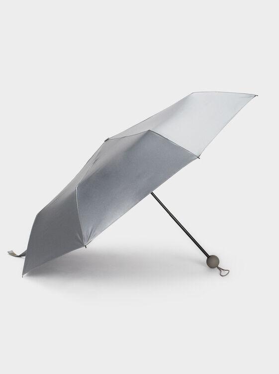 Small Metallic Umbrella, Grey, hi-res