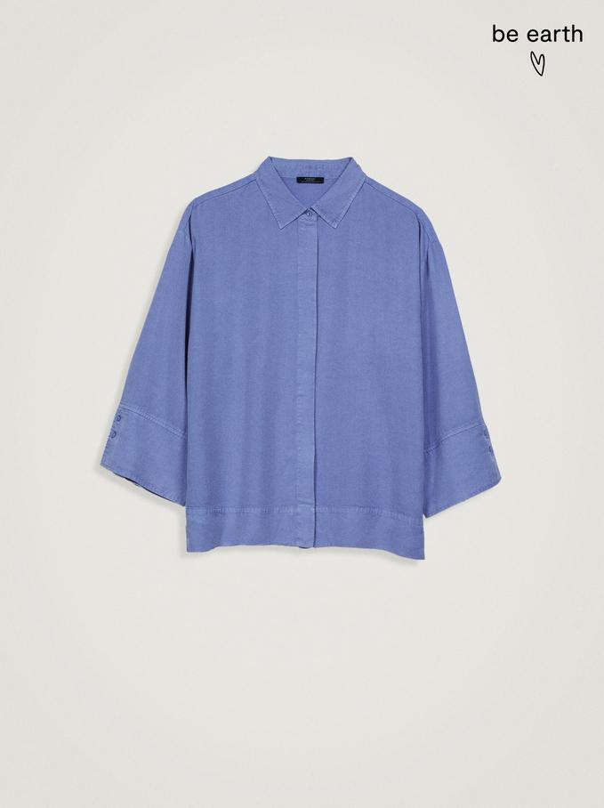 100% Lyocell Shirt, Blue, hi-res