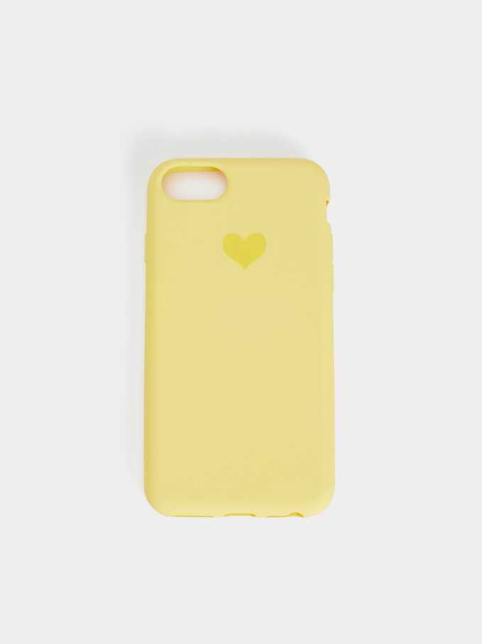 Heart Case For Iphone 6, 7 And 8, Yellow, hi-res