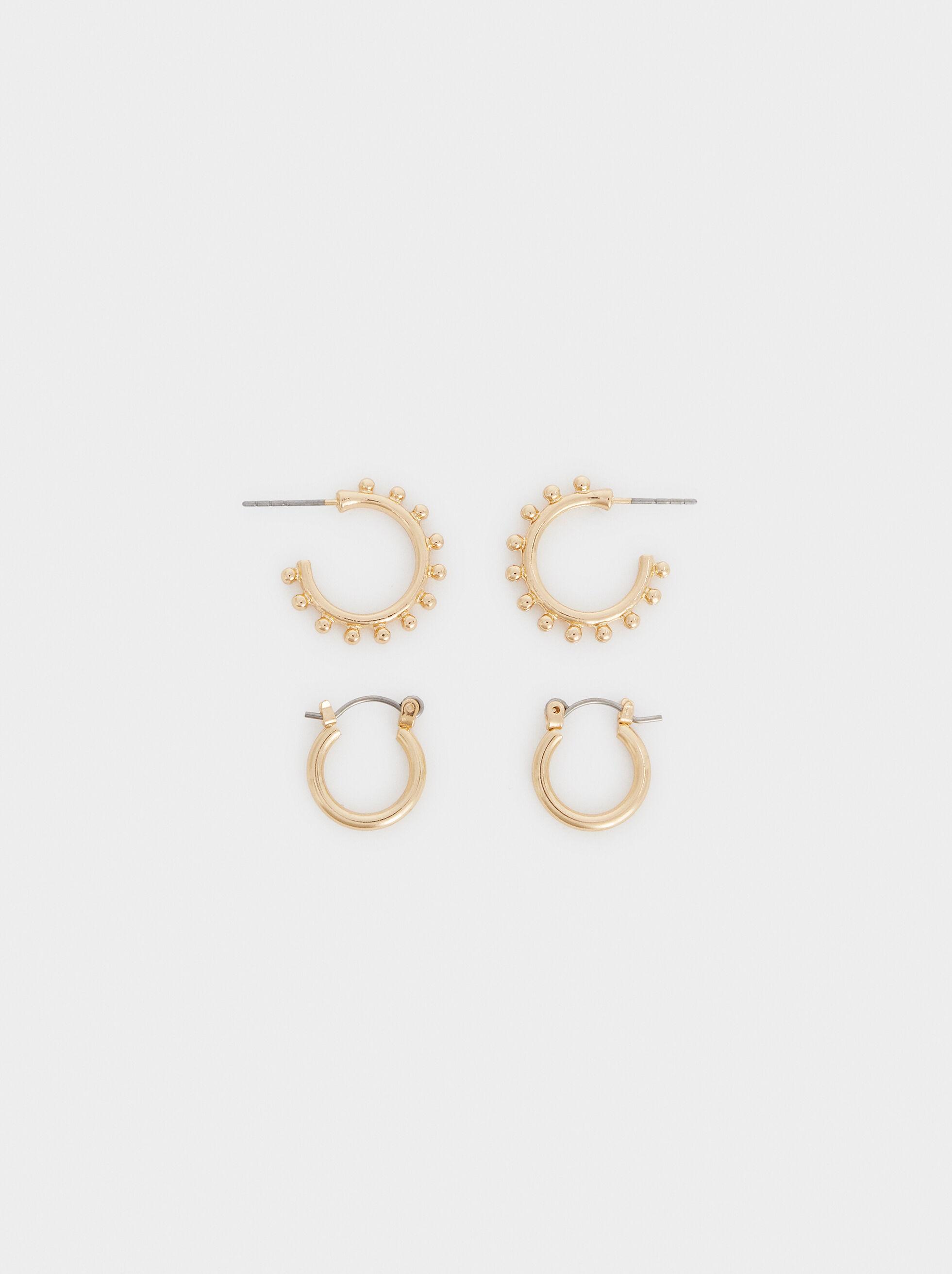 Set Of Hoop Fever Hoop Earrings, , hi-res