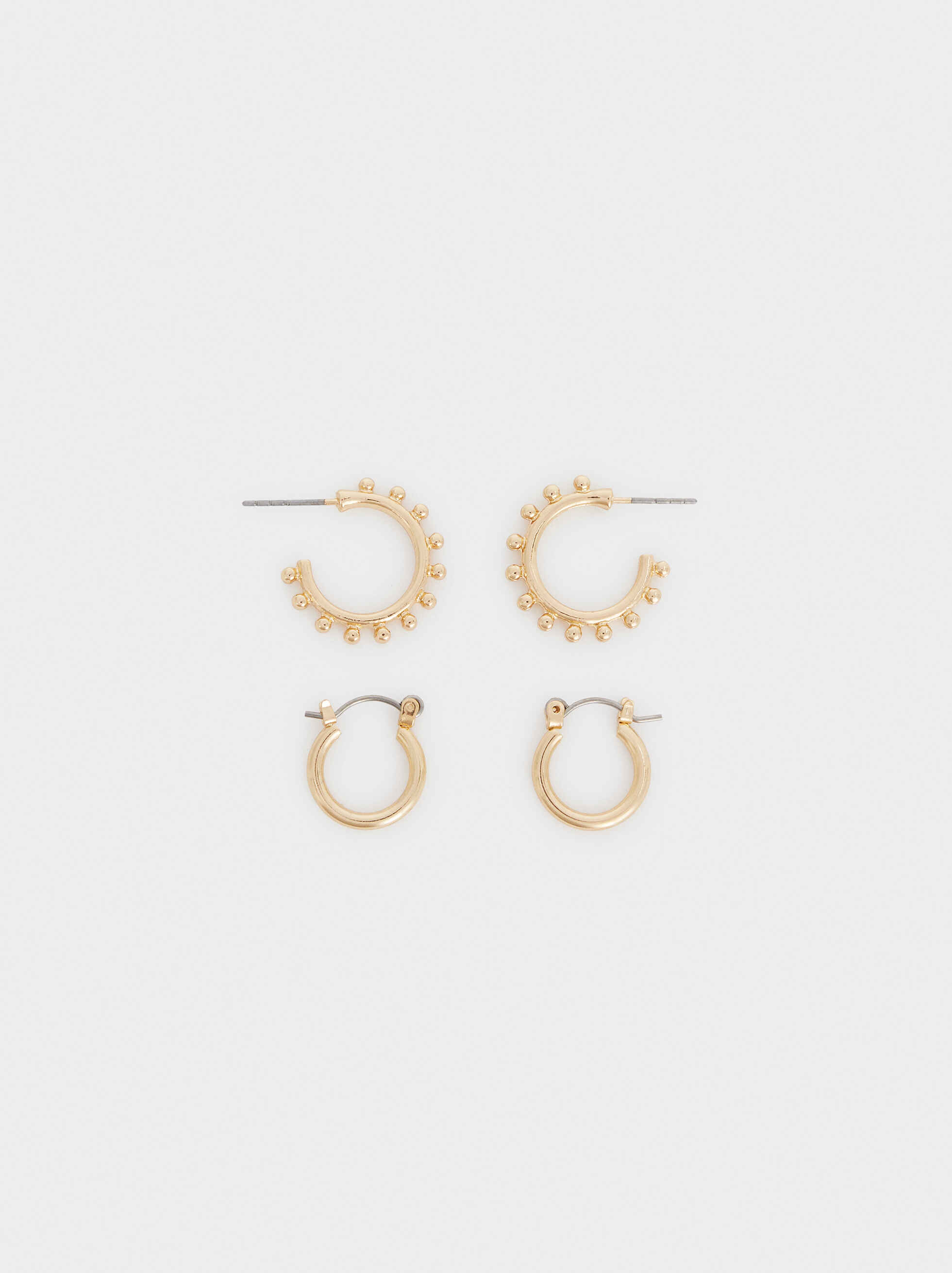 Set Of Hoop Fever Hoop Earrings, , hi-res