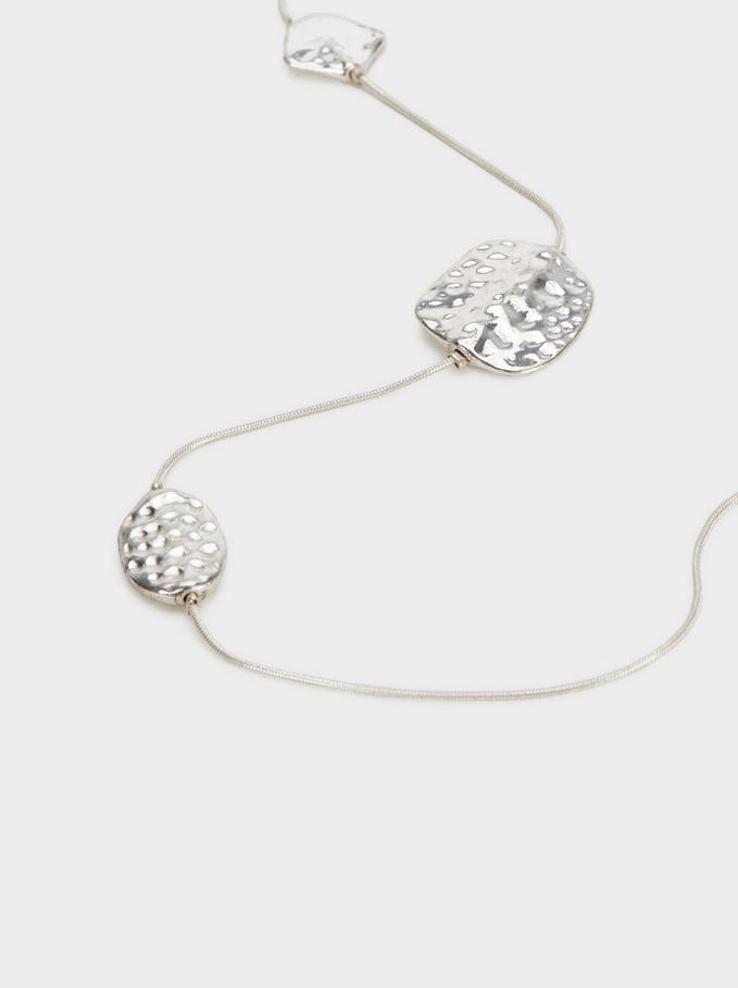 Collier Long Perles Fantaisie, Argent, hi-res