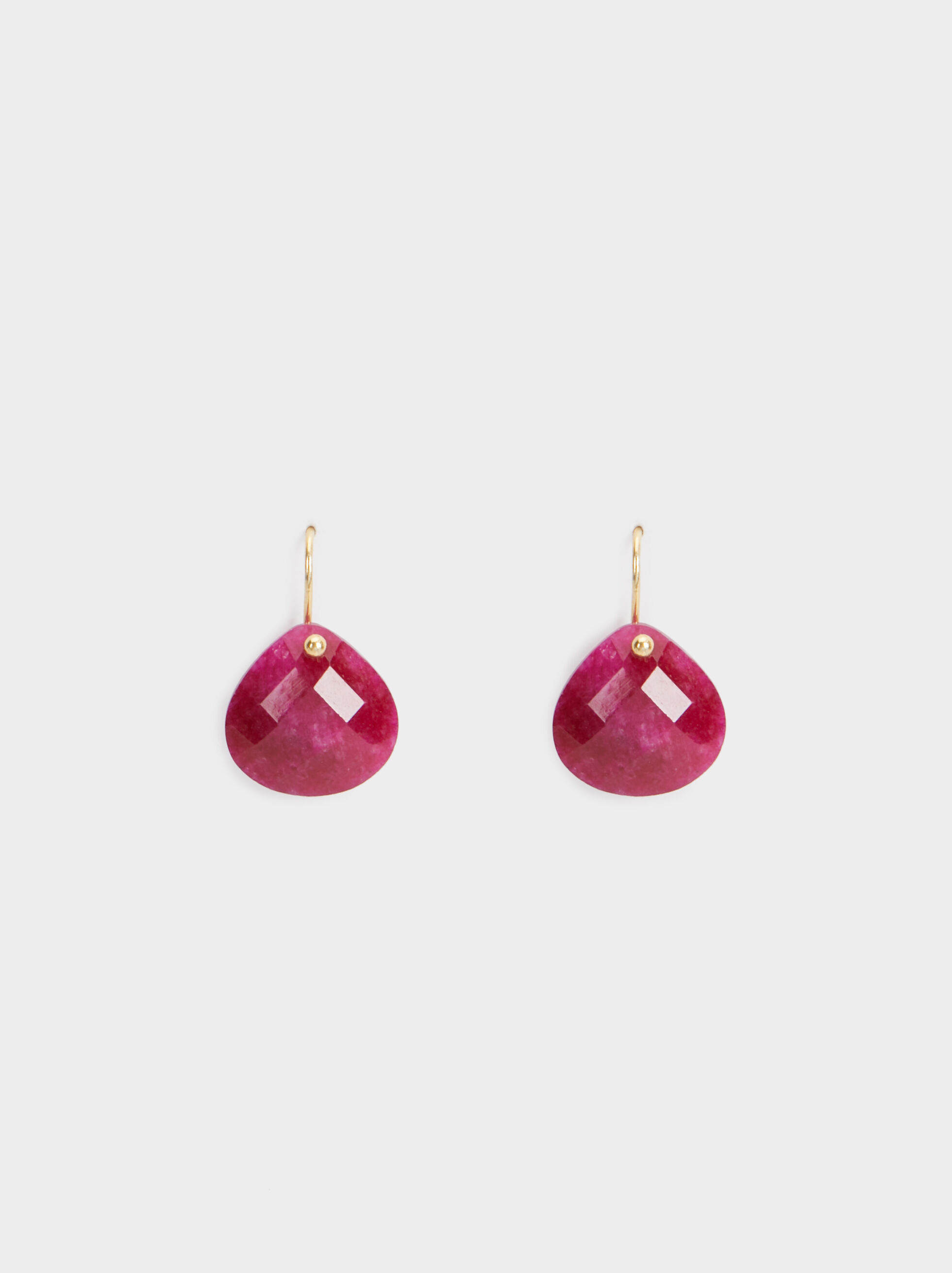 Short 925 Silver Stone Earrings, Pink, hi-res