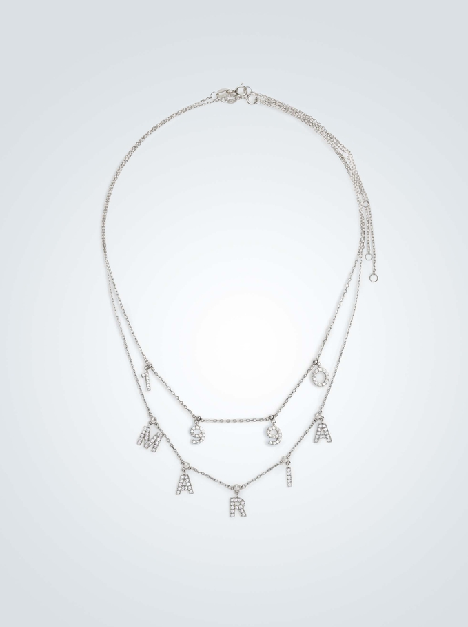 Collar Corto De Plata 925 Personalizable Plateado, Plateado, hi-res
