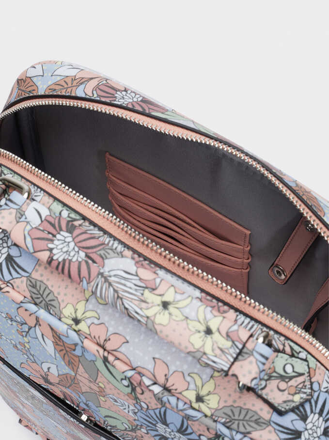 """Printed Backpack Backpack For 13"""" Laptop, Pink, hi-res"""
