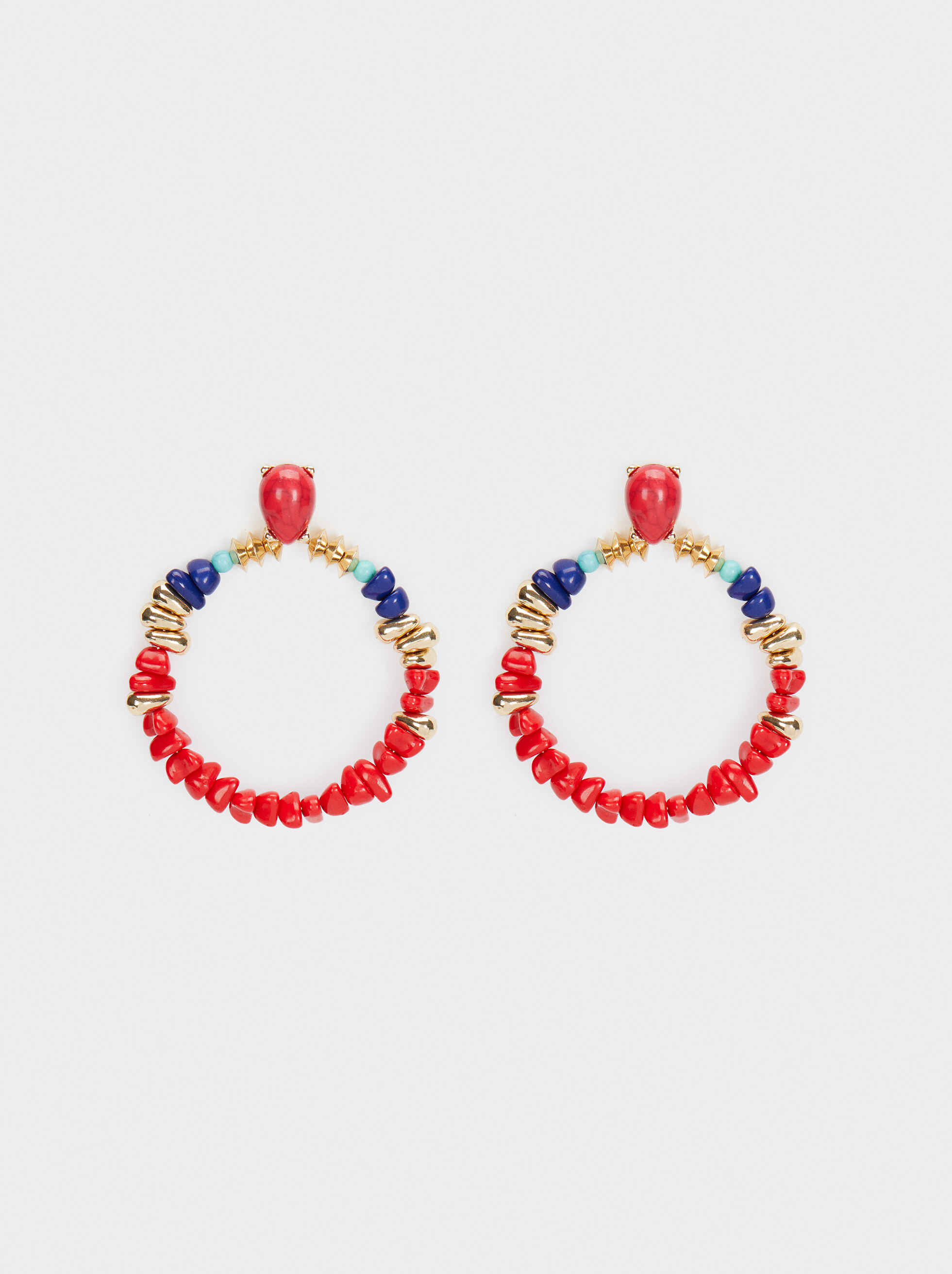 Recife Long Dangle Earrings With Beads, Multicolor, hi-res