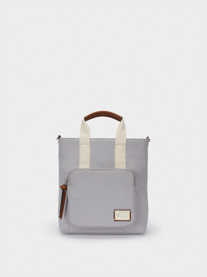 Multi-Way Canvas Backpack With Handles, Blue, hi-res