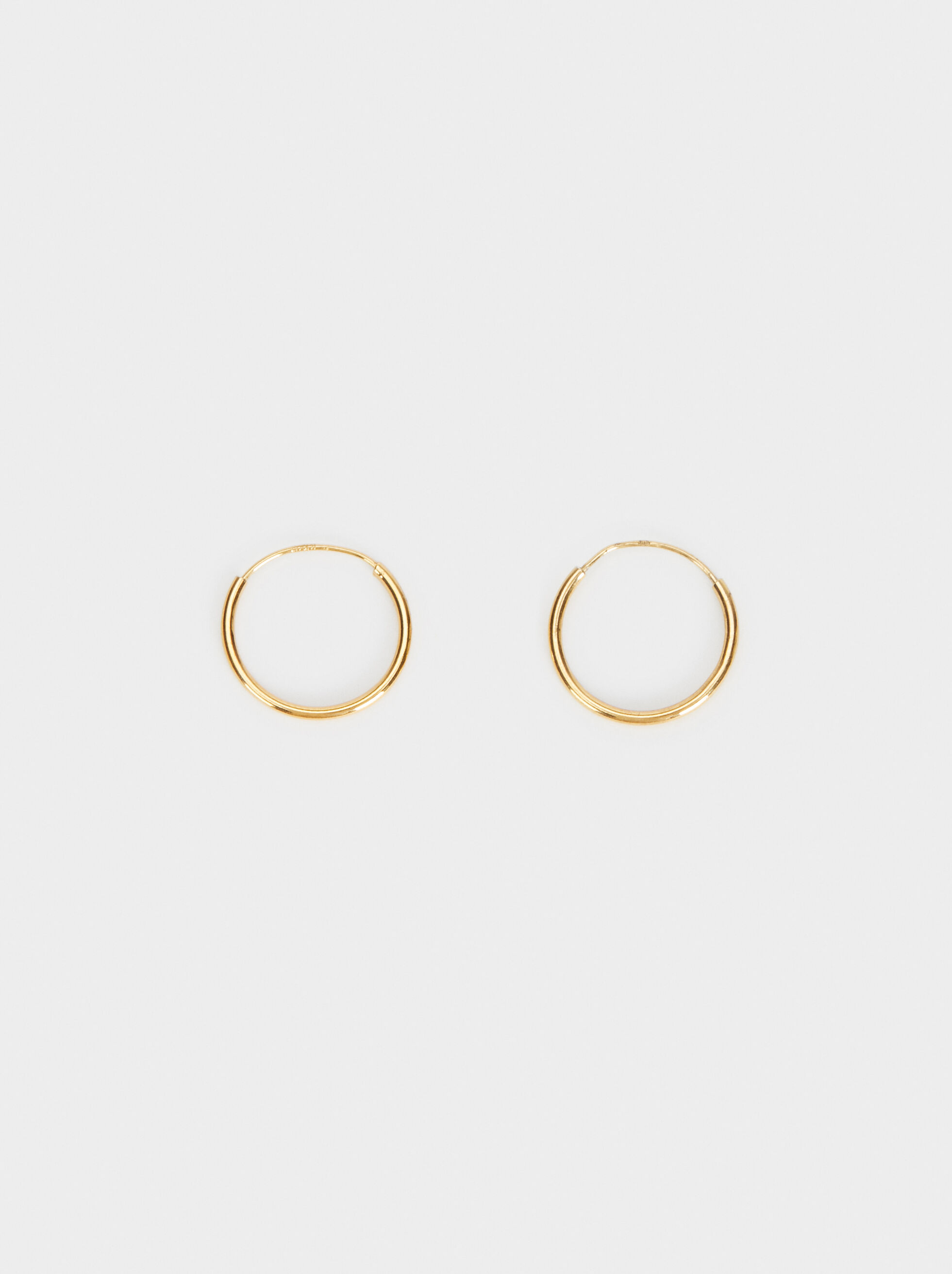 Basic 925 Silver Small Hoop Earrings, , hi-res