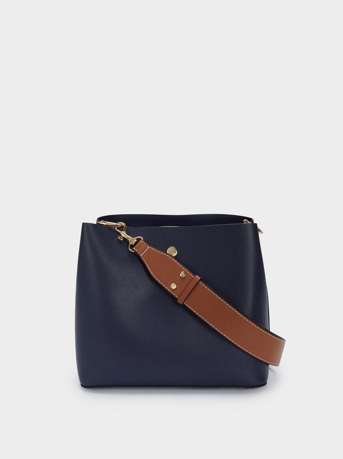 Shoulder Bag With Removable Shoulder Strap, Navy, hi-res