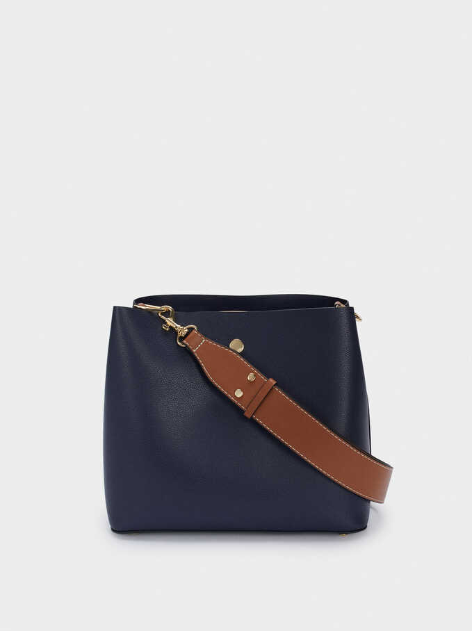 Shoulder Bag With Removable Shoulder Strap, Navy, hi-res