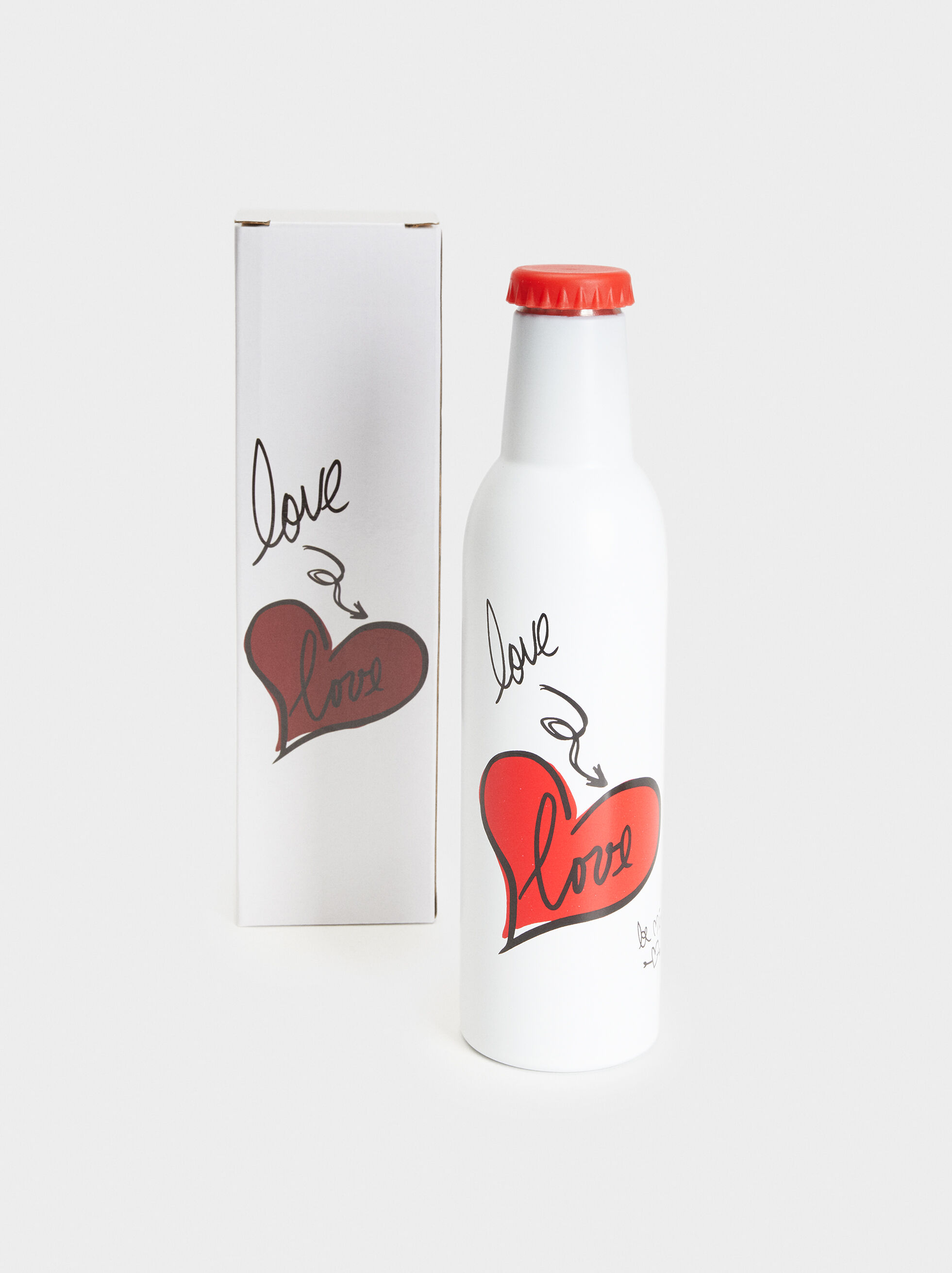 We Are Love Bottle, White, hi-res