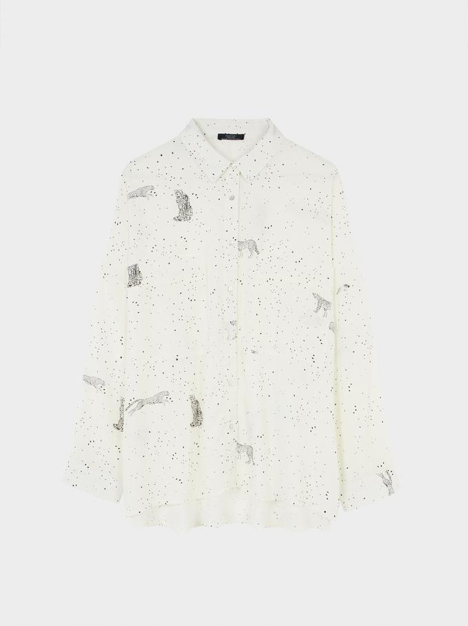 Cheetah Shirt, Avorio, hi-res