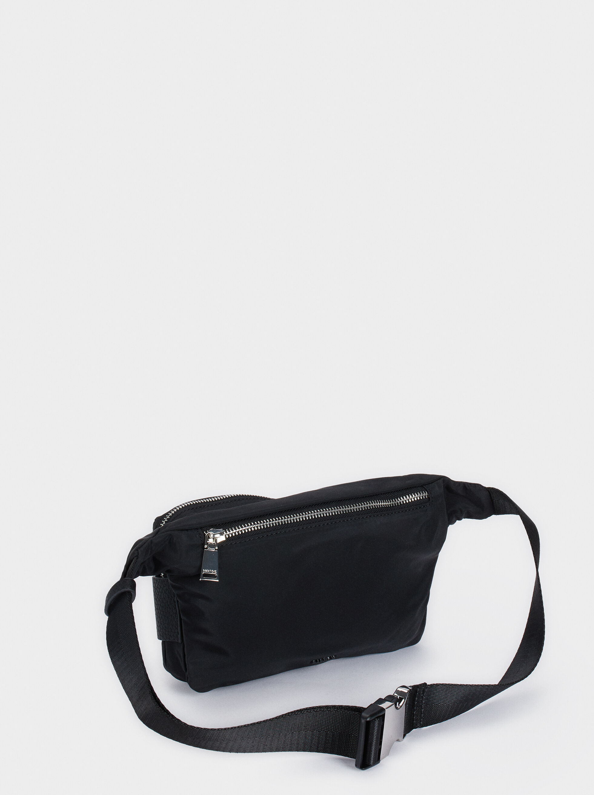 Nylon Belt Bag, Black, hi-res