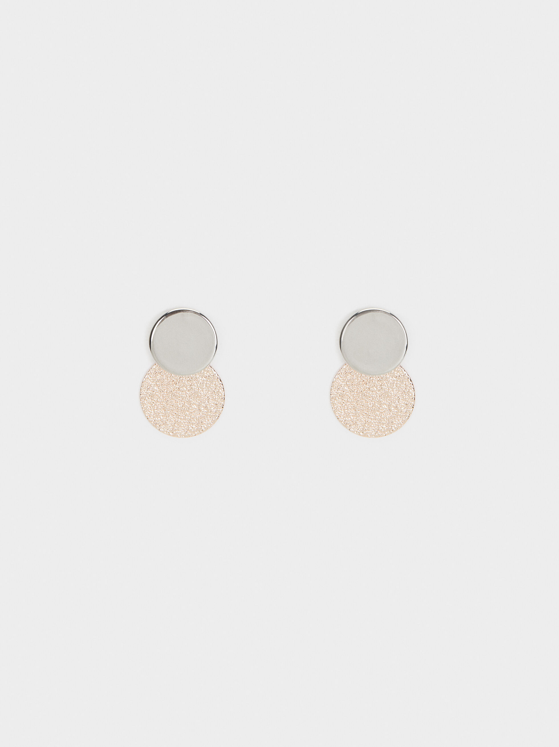 Basic Stud Earrings, Multicolor, hi-res