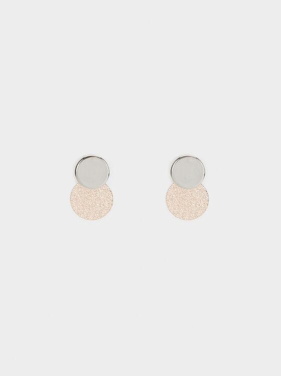 Basic Stud Earrings, Multicolor, hi-res