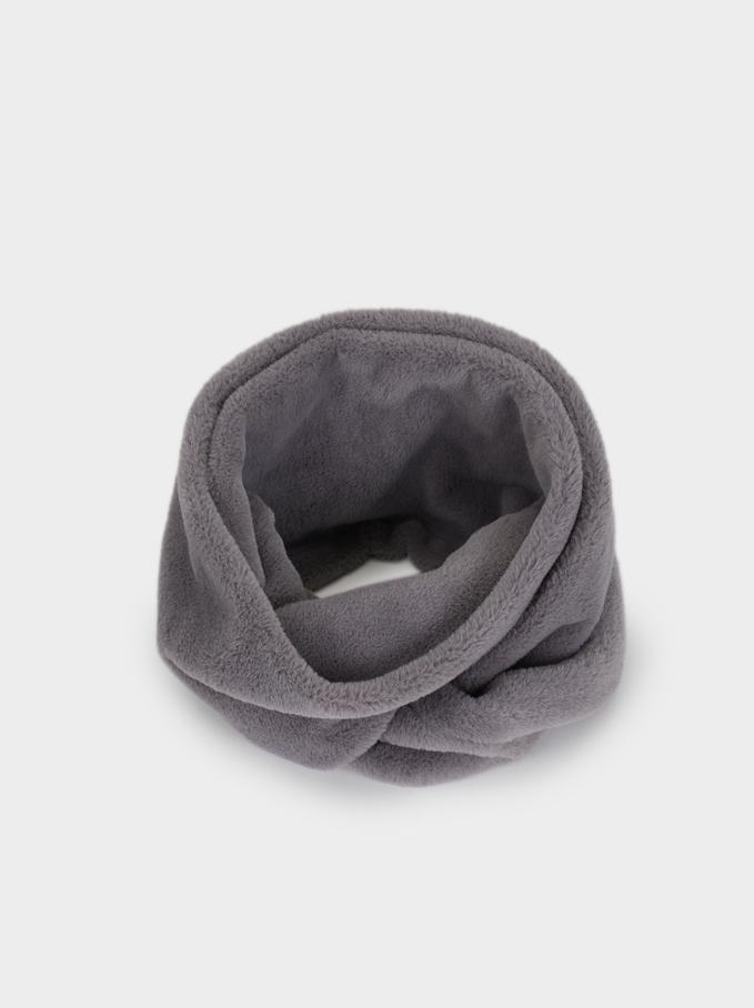 Faux Fur Snood, Grey, hi-res