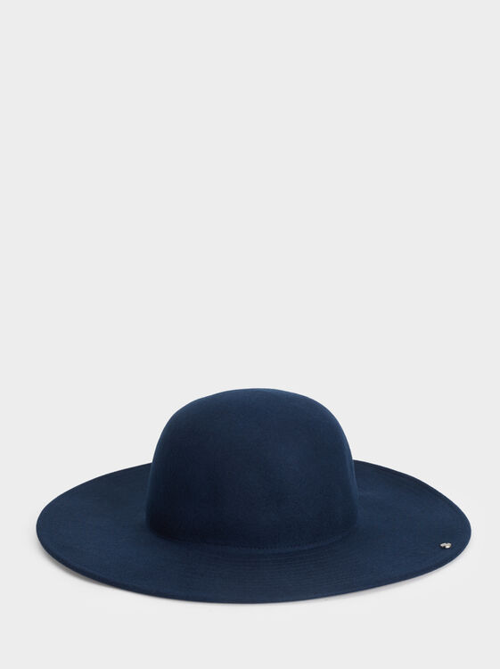 Wool Hat, Navy, hi-res