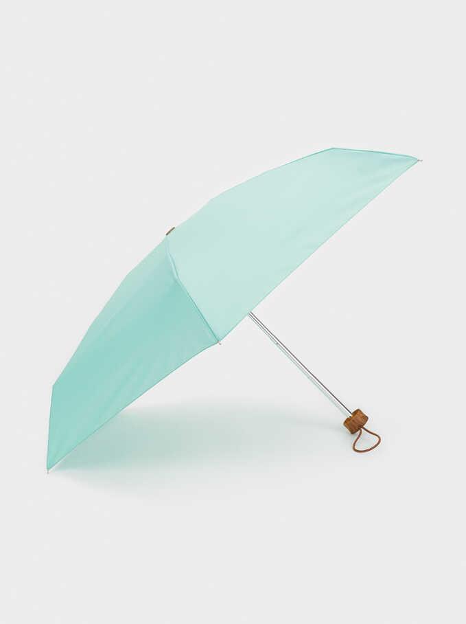 Paraguas Pequeño Plegable, Verde, hi-res