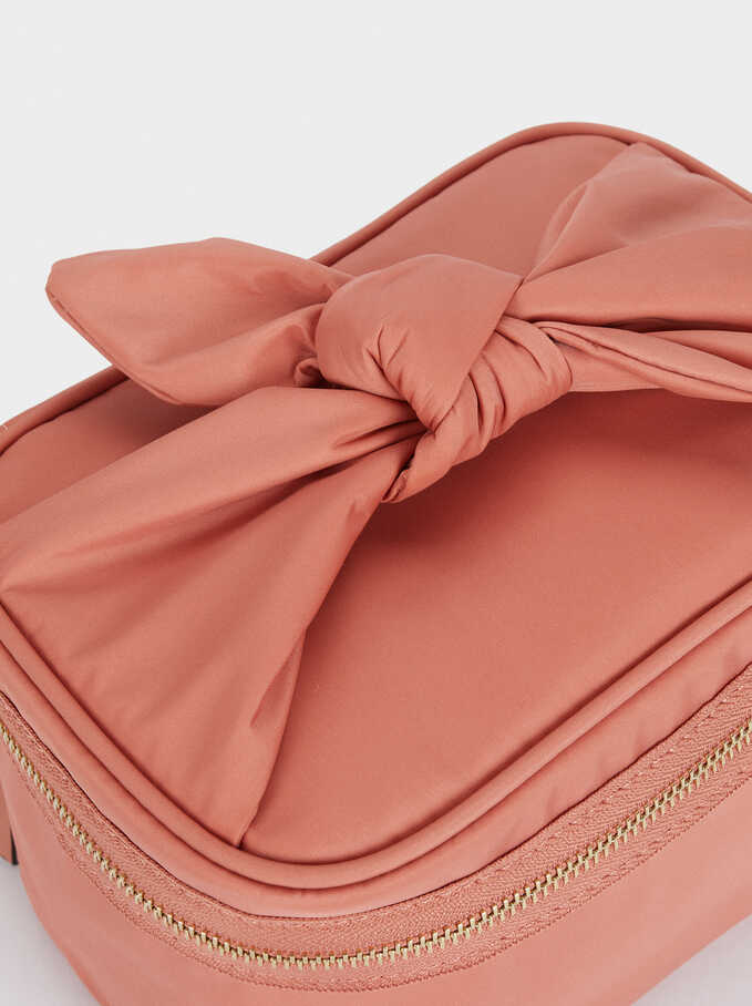 Nylon Toiletry Bag, Coral, hi-res