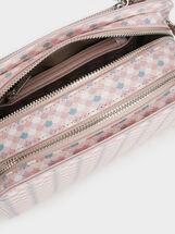 Printed Crossbody Bag, Pink, hi-res