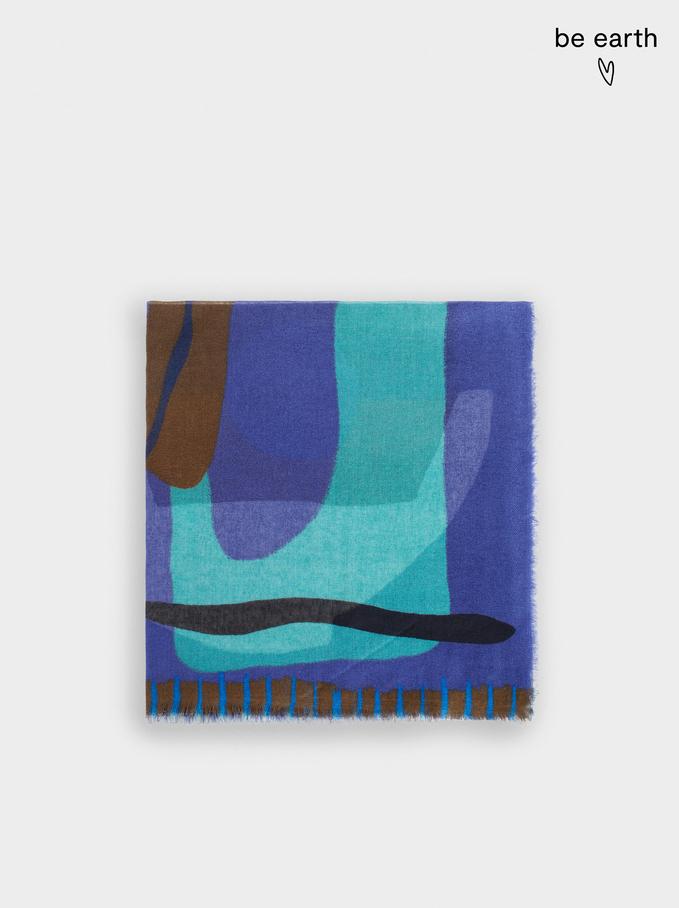 Pañuelo Estampado Fabricado Con Materiales Reciclados, Multicor, hi-res