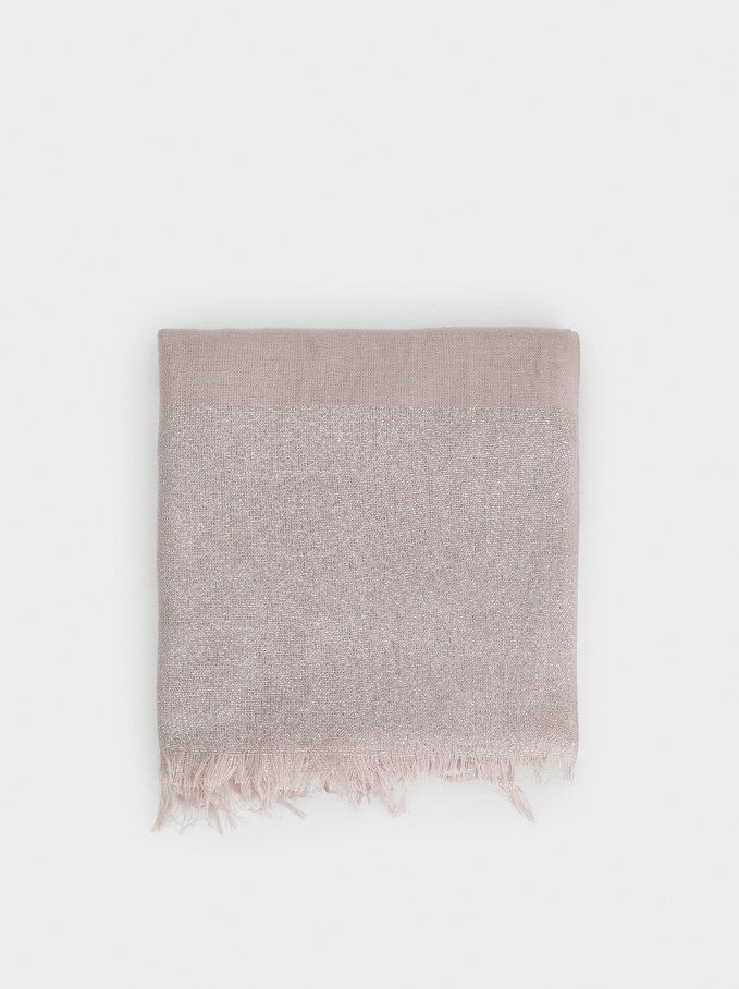 Metallic Wedding Scarf, Pink, hi-res