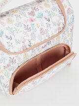 Floral Print Lunch Bag, Pink, hi-res