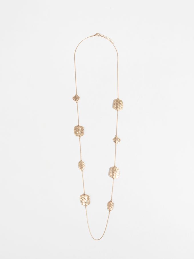 Collier Long Perles Fantaisie, Doré, hi-res