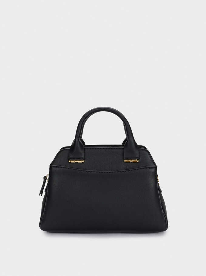 Tote Bag With Removable Strap, Black, hi-res