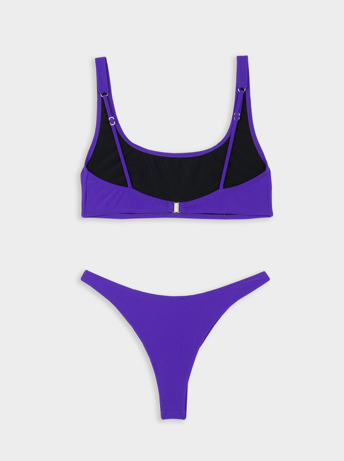 Bikini A Vita Alta, Viola, hi-res