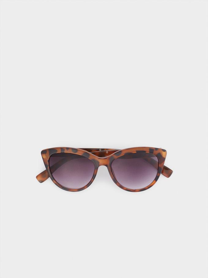 Óculos De Sol Cat Eye, Castanho, hi-res