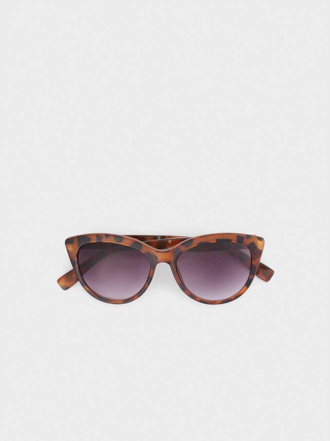 Cat Eye Sunglasses, Brown, hi-res