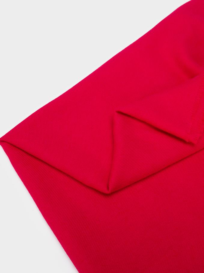 Plain Maxi Scarf, Red, hi-res