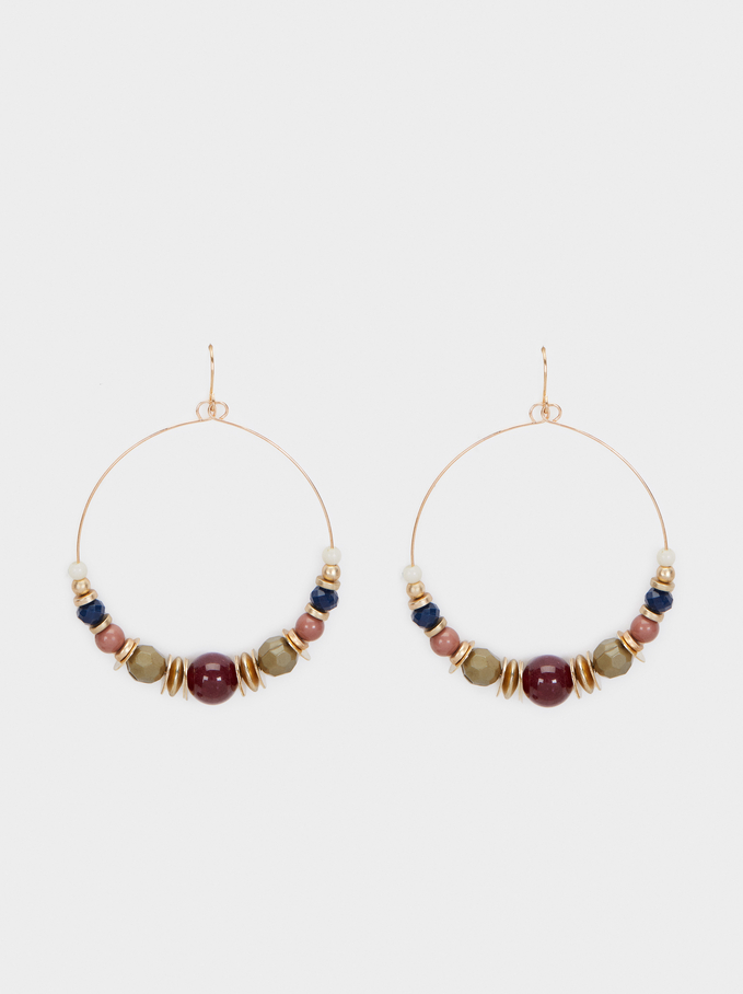 Bubbles Long Earrings, Multicolor, hi-res