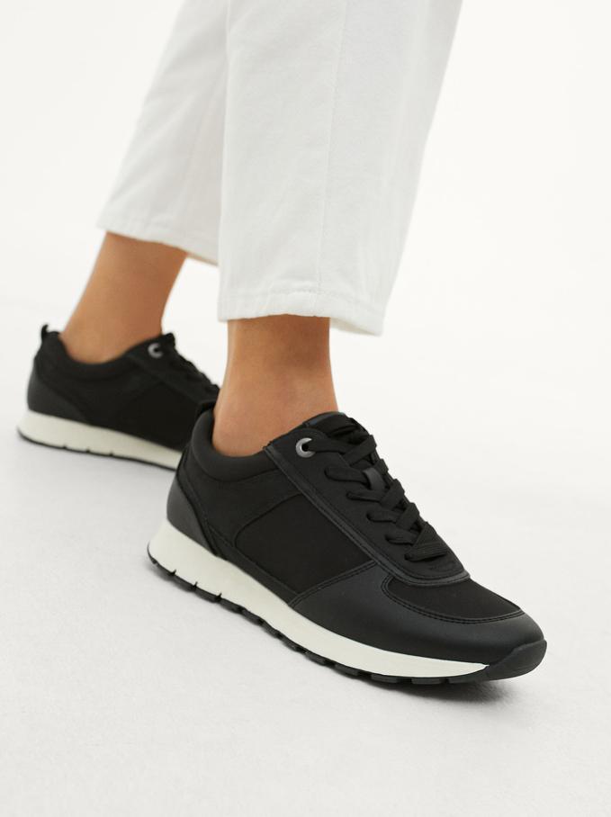 Contrast Sneakers, Black, hi-res