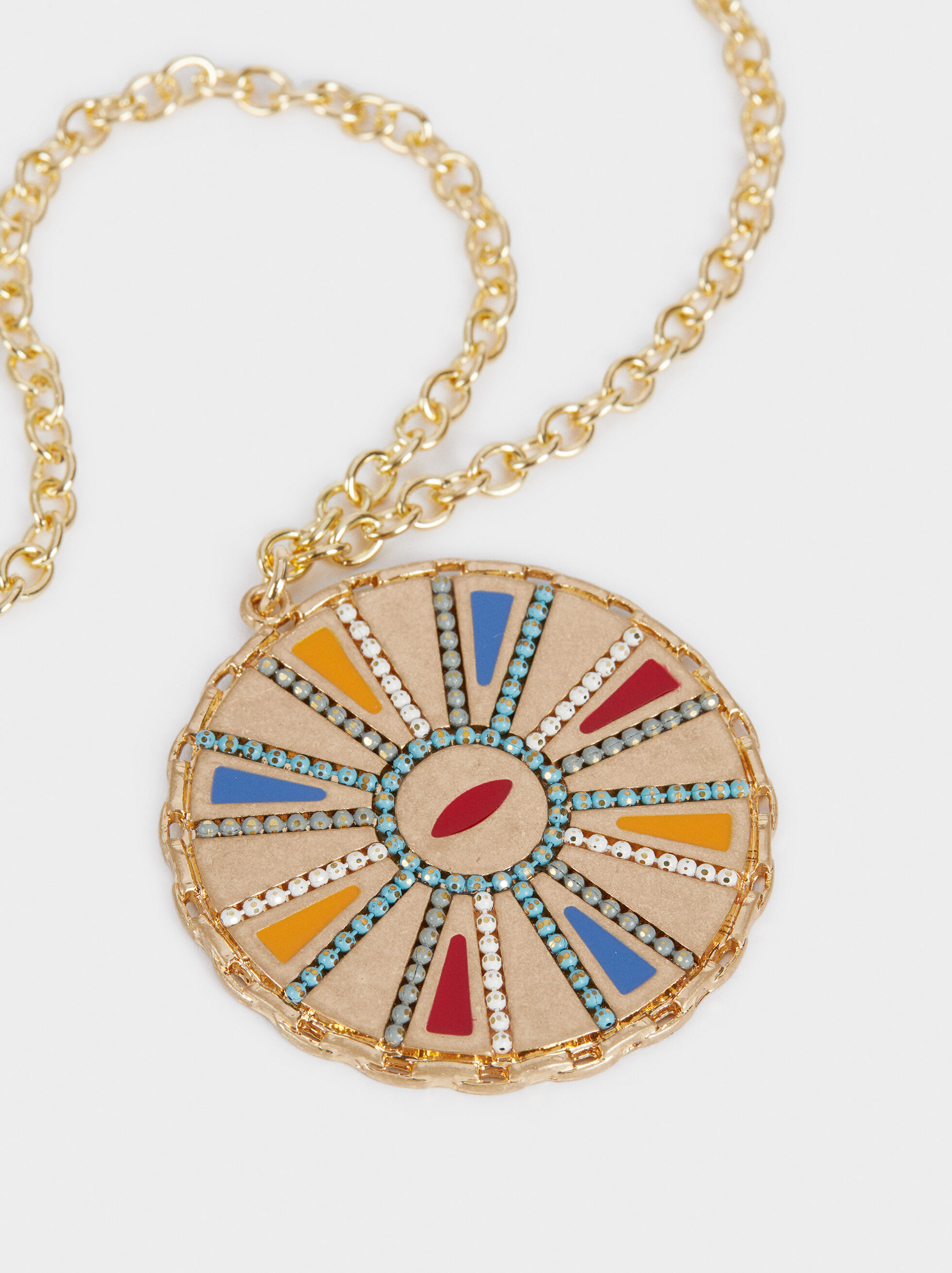 Long Necklace With Pendant , Multicolor, hi-res
