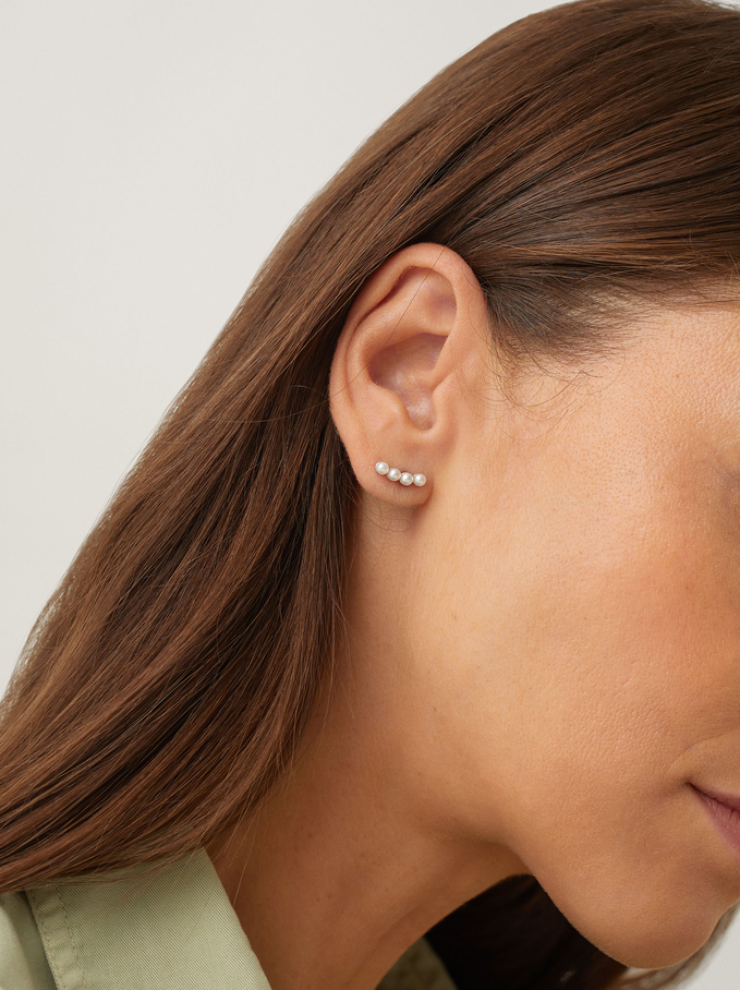 Silver Earring Set, Silver, hi-res