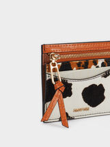 Animal Print Card Holder, Orange, hi-res