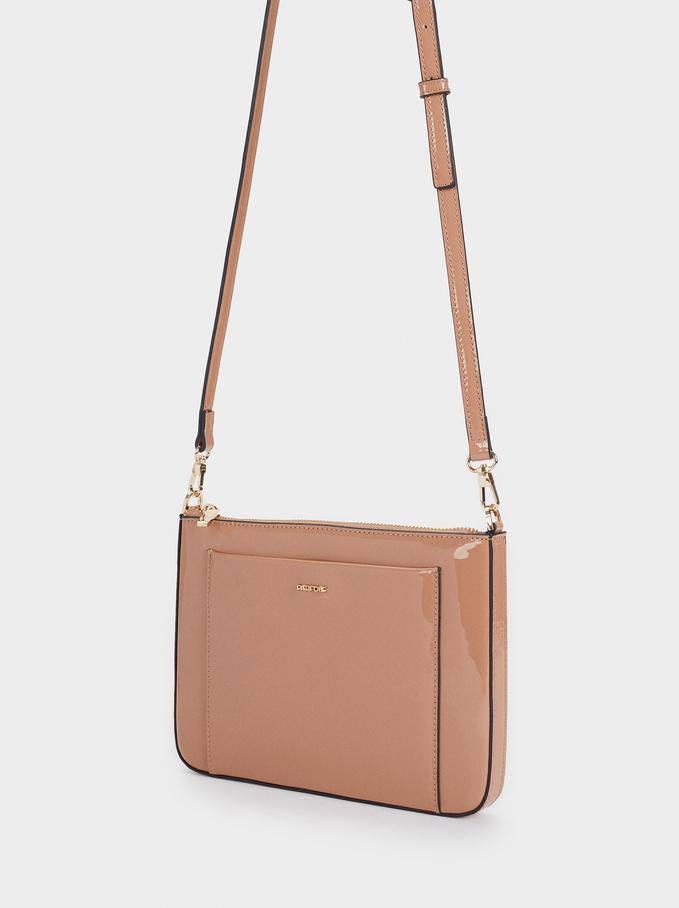 Patent Crossbody Bag, Pink, hi-res