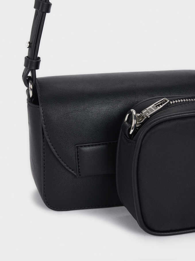 Crossbody Bag With Removable Lining, Black, hi-res