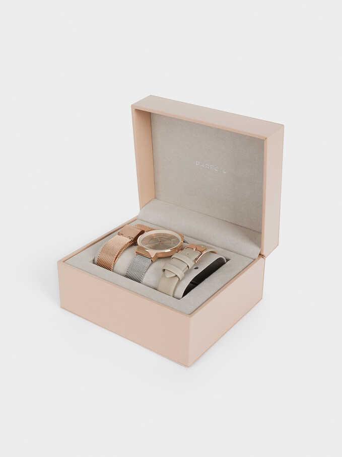 Montre À Bracelets Interchangeables, Argent, hi-res