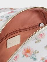 Floral Print Backpack, Pink, hi-res