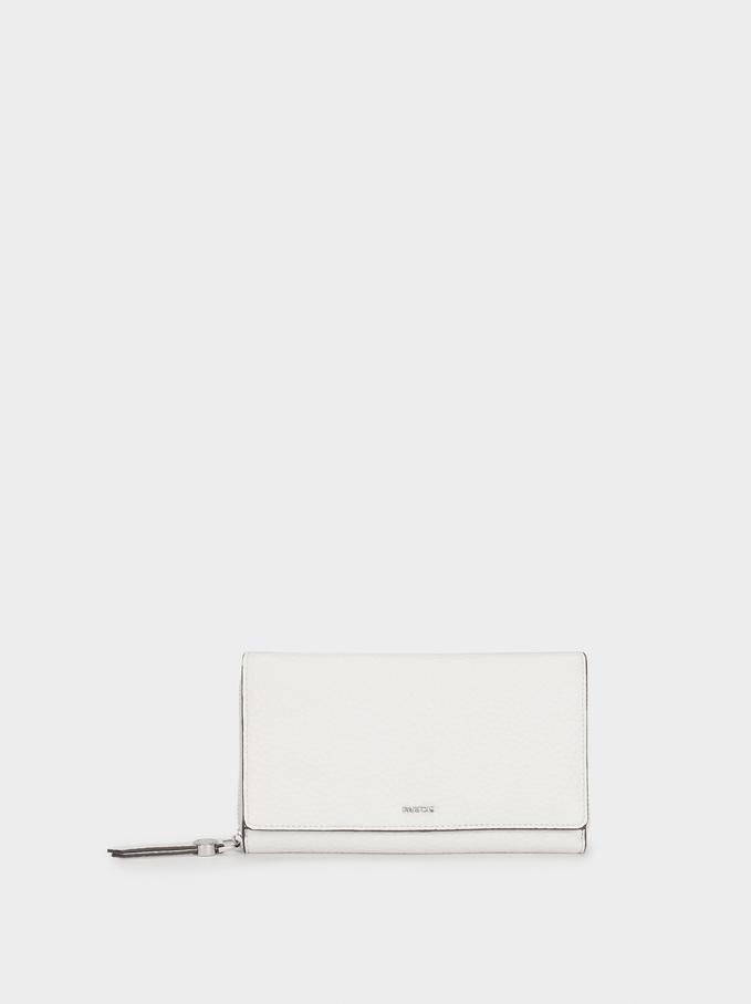 Plain Long Wallet, Ecru, hi-res