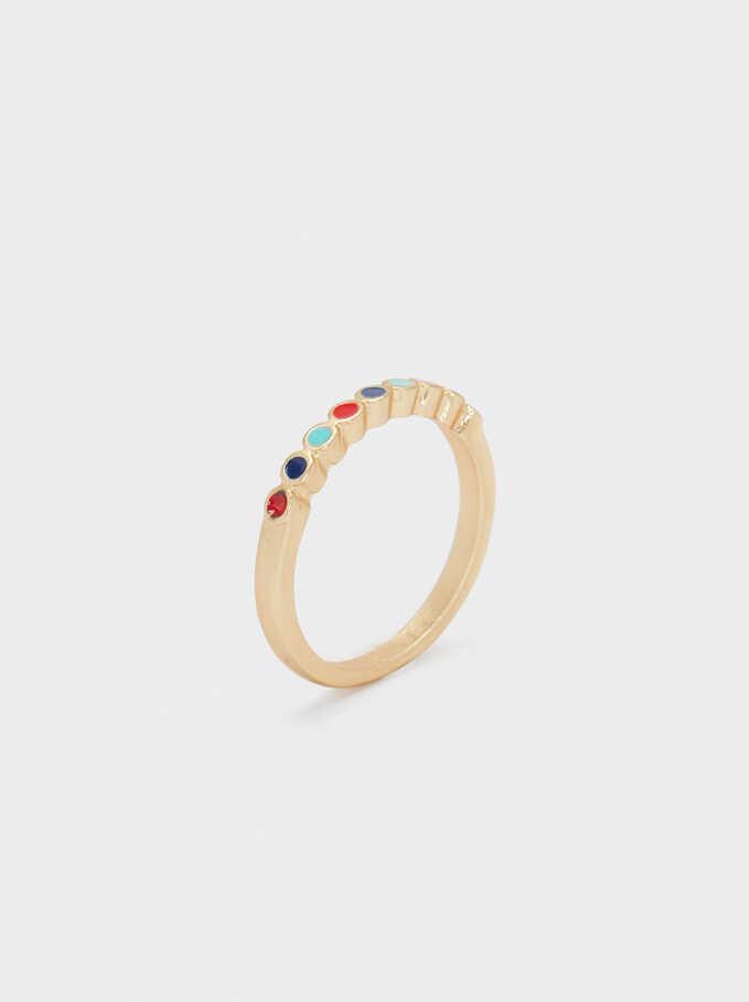 Multicoloured Rhinestone Ring, Multicolor, hi-res