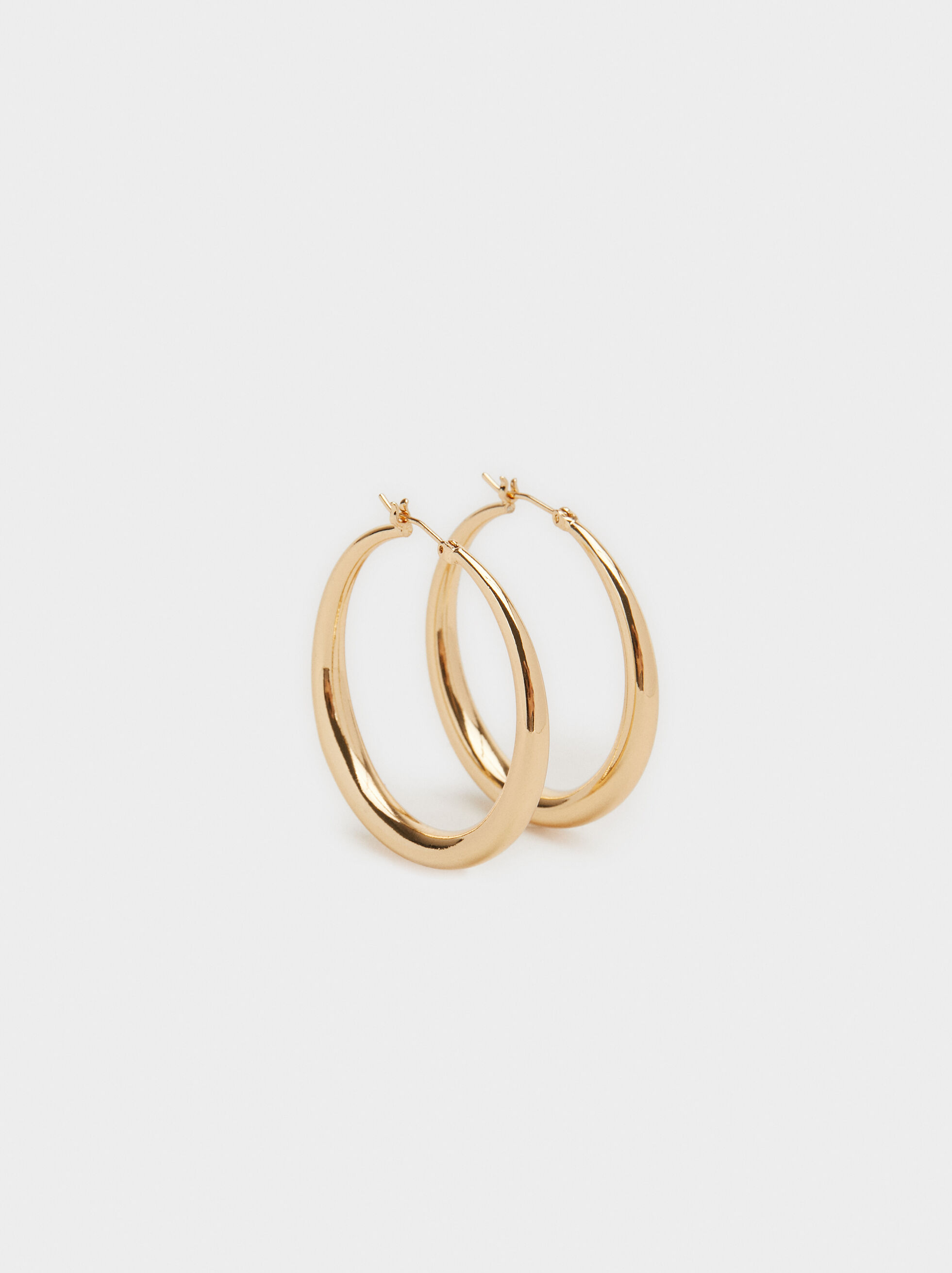 Basic Medium Hoop Earrings, , hi-res