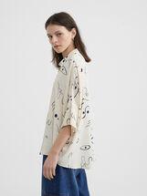 Printed Shirt, Ecru, hi-res