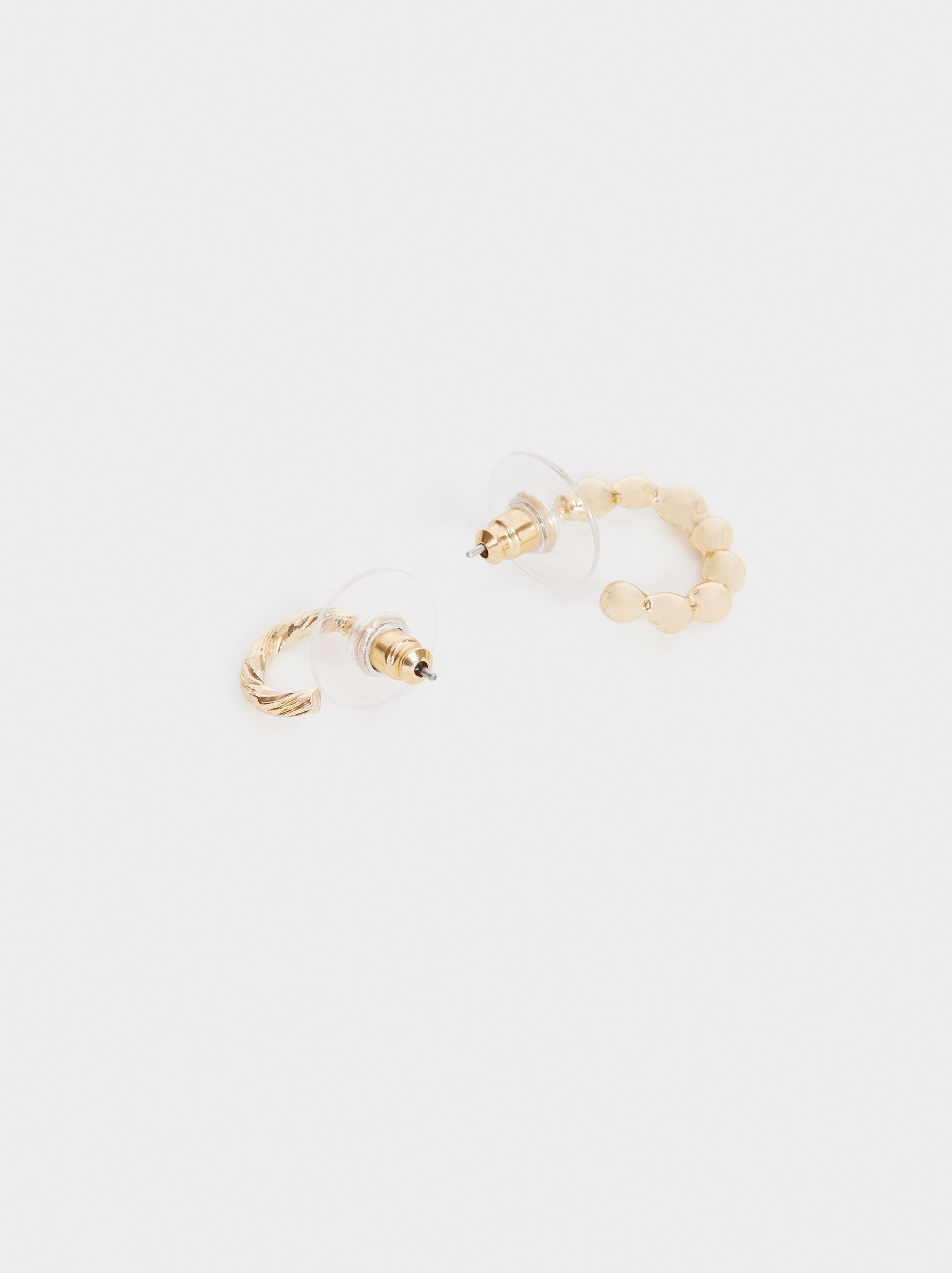 Hoop Fever Hoop Earrings Set, Golden, hi-res